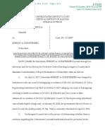 Christensen Protective Order