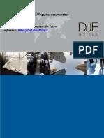 DJE Holdings – Environmental Policy