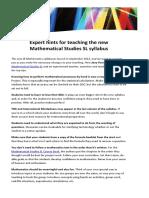 On IB mathematics