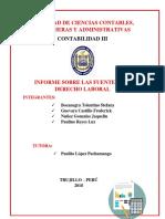 Informe Fuentes Del Derecho Del Trabajo