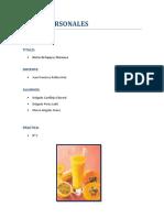 Informe de Materias Primas Practica Numero 1