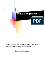 The State of Policy and Policy Development in Transport