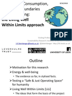 SUSTAINABLE CONSUMPTION THROUGH THE LENS OF PLANETARY BOUNDARIES AND HUMAN WELL-BEING