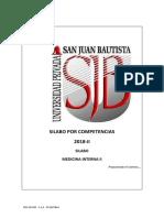 Silabo Medicina Interna II 2018-Ii_20180726135144