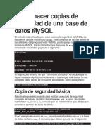 Administración MySQL