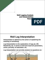 16- Well Log Interpretation Resume