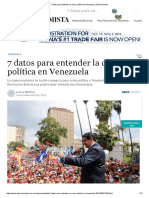 7 Datos Para Entender La Crisis Política en Venezuela _ El Economista