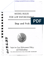 1973 Stop and Frisk Model Rules