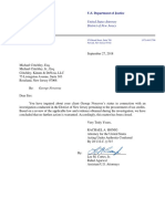 Letter from U.S. Justice Department