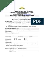 Nairobi CBD Centre Medical Emergency Form