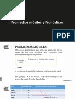ADICIONAL_Promedios Móviles y Pronósticos