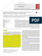 Nutritional Composition of the Meat of Hereford and Braford Steers Finished on Pastures or in a Feedlot in Southern Brazil