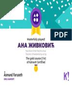 certificate   kahoot