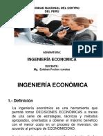 Diapositivas de Ingeniería Económica  - GENERALIDADES  (P-1).pptx