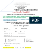 2018 Statement of Financial Disclosure