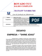 Unopar Empresa Adm 1 e 2 Shine Joias