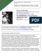 Jordan Glenn - Rembering the african american past