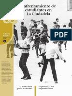 Enfrentamiento de estudiantes en la ciudadela
