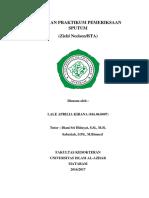 Cover Laporan Praktikum Pemeriksaan Sputum