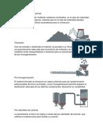 1.3 Metodos de Fabricacion Del Cemento