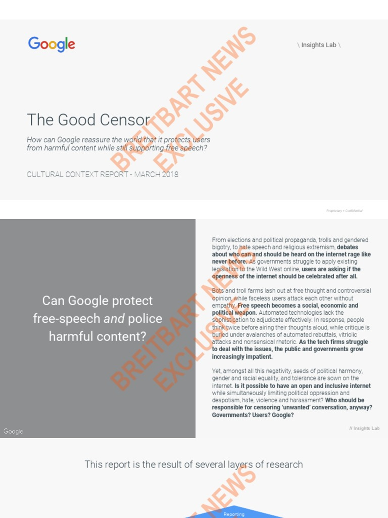 The Good Censor - GOOGLE LEAK