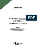 Blumer Herbert - El Interaccionismo Simbolico.pdf