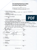 sle approval form