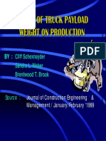 Effect of Truck Payload