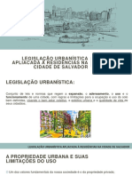 Aula_Legislação Urbanística Aplicada à Residências Na Cidade de Salvador