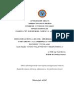 Modelo de Gestion Basado en El Balanced ScoredCard para las Empresas Consultoras de Ingeniería Venezolana