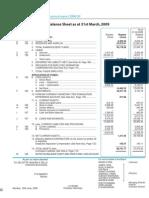 Tata Steel 09 Balance Sheet