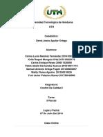 Informe de Control de Calidad II Parcial