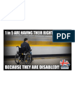 The Equality & Human Rights Commission Has Said That 1 in 5 British People Are Suffering Erosion of Their Rights Because They Are Disabled