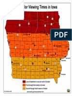 Best Fall color viewing times in Iowa