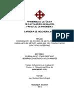 Comparacion de Diseño de Mezclas Asfalticas Empleando El Metodo Marshal y El Compactador Giratorio Superpave