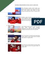 Daftar Atlet Indonesia Peraih Medali Emas Asian Games 2018