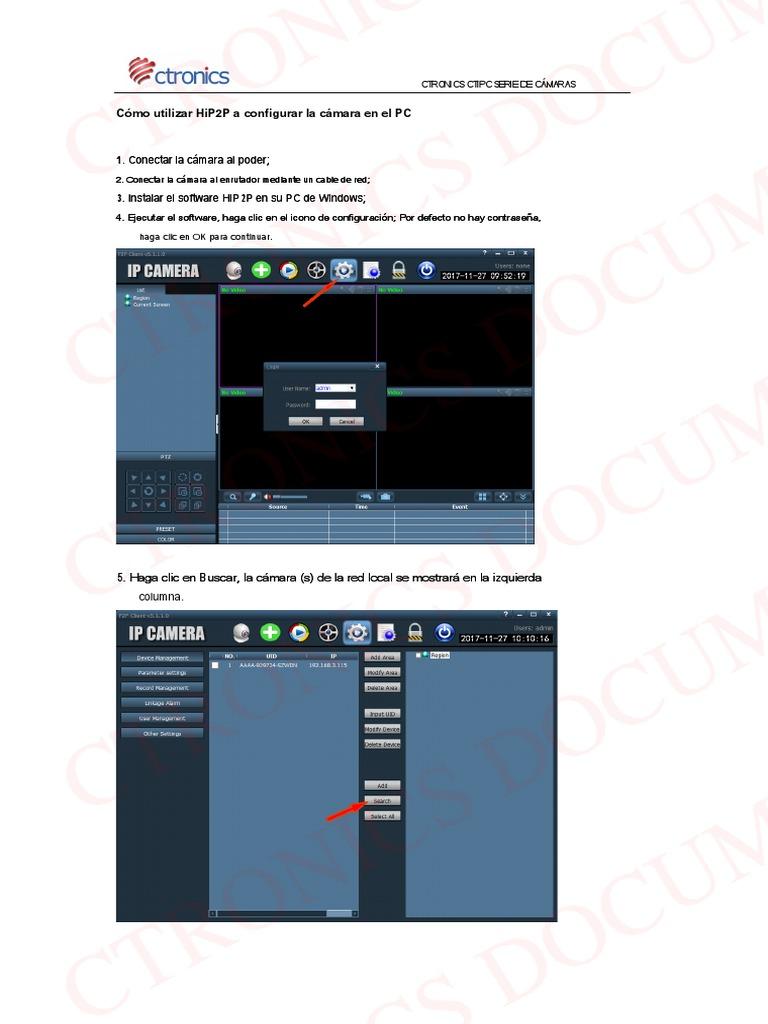 Use HiP2P to Setup the Camera en Es