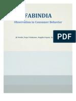 FABINDIA - Consumer Analysis