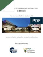 CAPREC 2018_Programme Provisoire