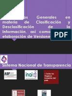 Lineamientos Generales Materia Clasificacion Desclasificacion