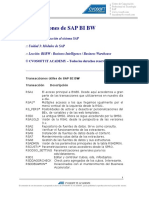 Documento Transacciones de SAP BIBW