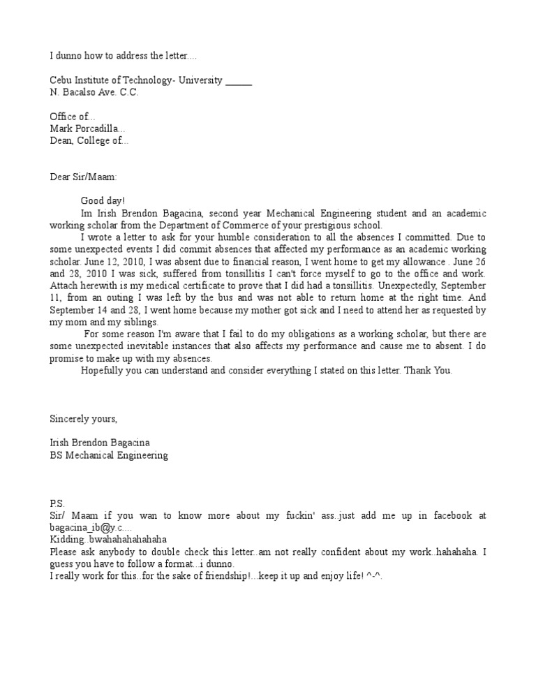 promissory Letter sample – Sample Letter for Work Permit