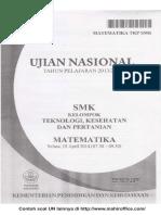 Contoh Soal UN Matematika SMK kelompok Teknologi, Kesehatan dan Pertanian.pdf