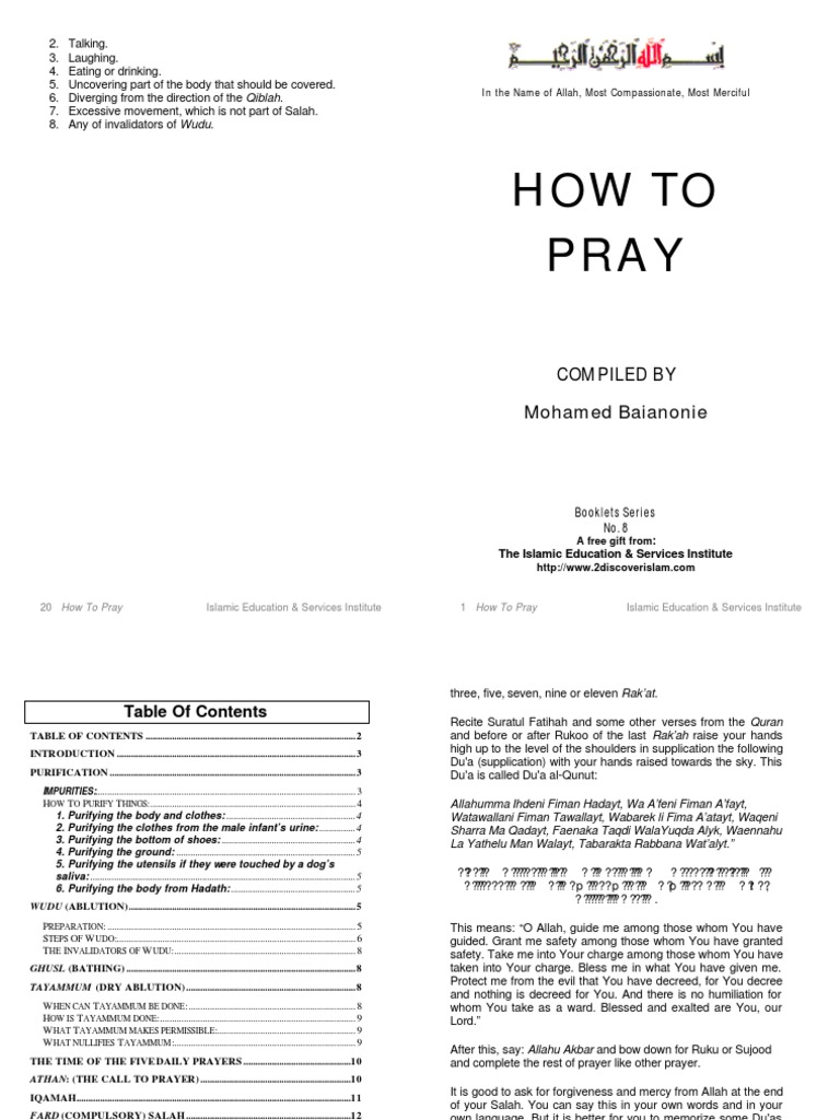 How to Pray - Sholat for Muslim | Religious Behaviour And