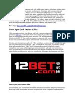 Situs Agen Judi Online 12Bet | Goodlucky99