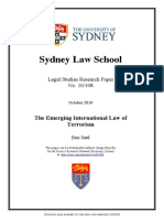 Ben Saul - The Emerging International Law of Terrorism