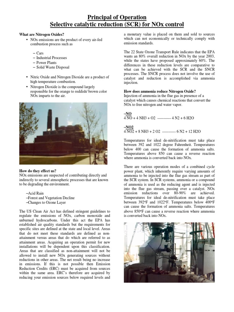 SCR Brochure Final | Ammonia | N Ox
