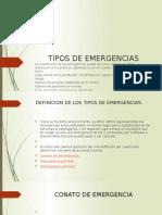 6 Tipos de Emergencias