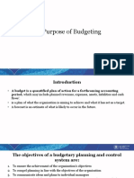 C.1. Purpose of Budgeting