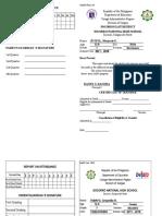 Card Form 138 Grade 7 Girls